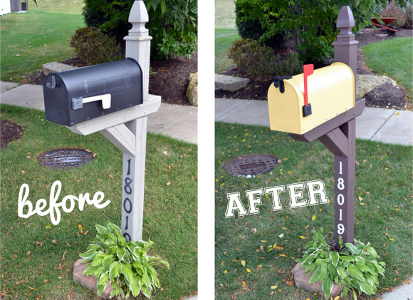 before and after mailbox from thediyplaybook.com